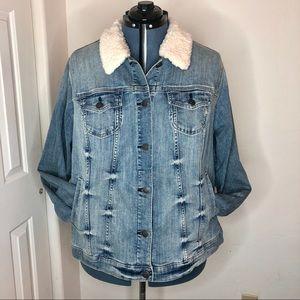 Torrid Sherpa Collar Denim Jacket Size 4X